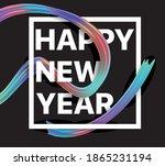 vector illustration  happy new... | Shutterstock .eps vector #1865231194
