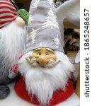 Cute red dwarfs in a santa...