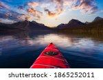 Kayaking In Lake Mcdonald With...