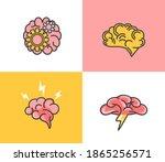 set of brain concepts... | Shutterstock .eps vector #1865256571