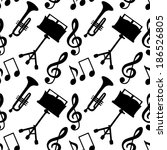 musical seamless pattern with...