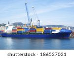 container ship | Shutterstock . vector #186527021