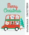 santa claus and gang of animal... | Shutterstock .eps vector #1865278804