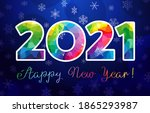 2021 a happy new year congrats... | Shutterstock .eps vector #1865293987