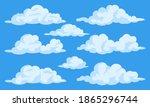 simple cartoon clouds vector... | Shutterstock .eps vector #1865296744