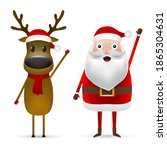 christmas santa claus and... | Shutterstock . vector #1865304631