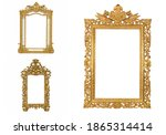 isolated golden antique picture ... | Shutterstock . vector #1865314414