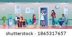 hospital hallway with doctors ... | Shutterstock .eps vector #1865317657