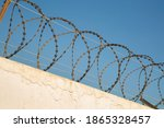 Protective Barbed Wire On The...