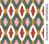 ikat border. geometric folk... | Shutterstock .eps vector #1865340631