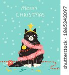 christmas holidays card  poster ...   Shutterstock .eps vector #1865343097