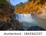 Cumberland Falls on the Cumberland River in Cumberland Falls State Resort Park, Kentucky, USA.
