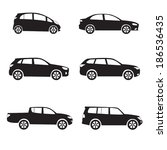 cars icon set. different vector ... | Shutterstock .eps vector #186536435