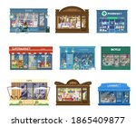 vector collection of shops...   Shutterstock .eps vector #1865409877