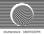 striped ball  3d sphere ... | Shutterstock .eps vector #1865410294