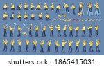 set of isometric workers.... | Shutterstock .eps vector #1865415031