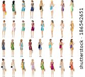 shopping women   vector... | Shutterstock .eps vector #186542651