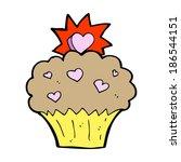 cartoon love heart cupcake | Shutterstock .eps vector #186544151