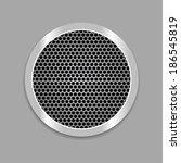 web icon metallic button.... | Shutterstock .eps vector #186545819