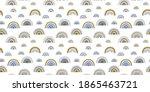seamless pattern of elegant...   Shutterstock .eps vector #1865463721