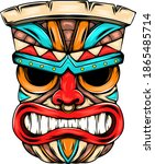 the angry face mask from the... | Shutterstock .eps vector #1865485714