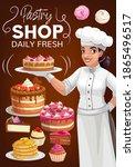pastry shop  patisserie bakery  ... | Shutterstock .eps vector #1865496517