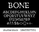 Bones Font  Halloween Vector...