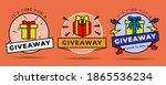 giveaway winner vintage badge...   Shutterstock .eps vector #1865536234