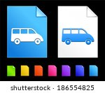 van icons on colorful paper...   Shutterstock .eps vector #186554825