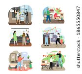 holiday party celebration set ... | Shutterstock .eps vector #1865550847