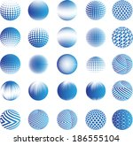 set of abstract vector spheres  | Shutterstock .eps vector #186555104