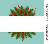 christmas postcard with... | Shutterstock .eps vector #1865562751