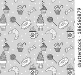 white and grey seamless pattern ... | Shutterstock . vector #186560879