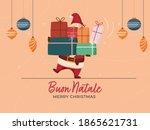italian language merry...   Shutterstock .eps vector #1865621731