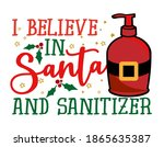 i believe in santa and... | Shutterstock .eps vector #1865635387