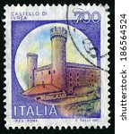 italy   circa 1980  a stamp...   Shutterstock . vector #186564524