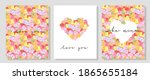 vector set of valentine day... | Shutterstock .eps vector #1865655184