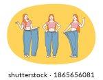 losing weight  slim  diet... | Shutterstock .eps vector #1865656081