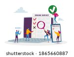 online survey concept. tiny... | Shutterstock .eps vector #1865660887
