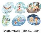 mythology  greece  religion set ... | Shutterstock .eps vector #1865673334