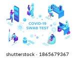 covid 19 nasal swab test ... | Shutterstock .eps vector #1865679367