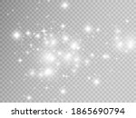 sparks and golden stars glitter ... | Shutterstock .eps vector #1865690794