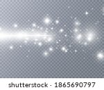 sparks and golden stars glitter ... | Shutterstock .eps vector #1865690797