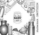 farm food design template. hand ... | Shutterstock .eps vector #1865732224