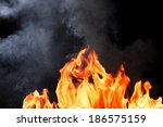 real fire texture with... | Shutterstock . vector #186575159