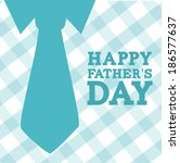 fathers day design over white... | Shutterstock .eps vector #186577637