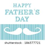 fathers day design over white... | Shutterstock .eps vector #186577721