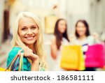 shopping and tourism concept  ... | Shutterstock . vector #186581111