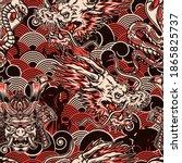 vintage japanese seamless... | Shutterstock .eps vector #1865825737