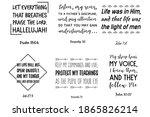 set of bible verses. christian... | Shutterstock .eps vector #1865826214